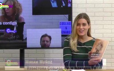 ENTREVISTA POR LA TELEVISIÓN DE COSLADA DE LA NOVELA NUESTRO AMOR SERÁ UN BESO CONTINUO